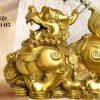 Tượng Tỳ Hưu Bằng Đồng Chầu Hũ Vàng