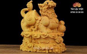 Tượng Tỳ Hưu bằng Gỗ Hoàng Dương - Mã TGTH 001