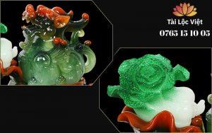 Đuôi và Bắp Cải Tượng Tỳ Hưu Bắp Cải bằng Nhựa Poly Giả Ngọc - Bốn Mùa Thịnh Vượng