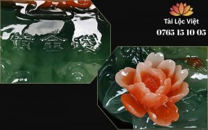 Thân và Bông Hoa tên Tượng Tỳ Hưu Bắp Cải bằng Nhựa Poly Giả Ngọc - Bốn Mùa Thịnh Vượng