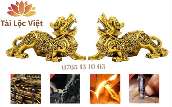 Tượng Tỳ Hưu Đồng Vàng, Mình Tiền - Chiêu Tài, Trấn Sát Và Quy Trình Chế Tác