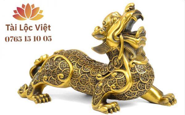 Tượng Tỳ Hưu Đực bằng Đồng Vàng, Mình Tiền - Chiêu Tài, Trấn Sát