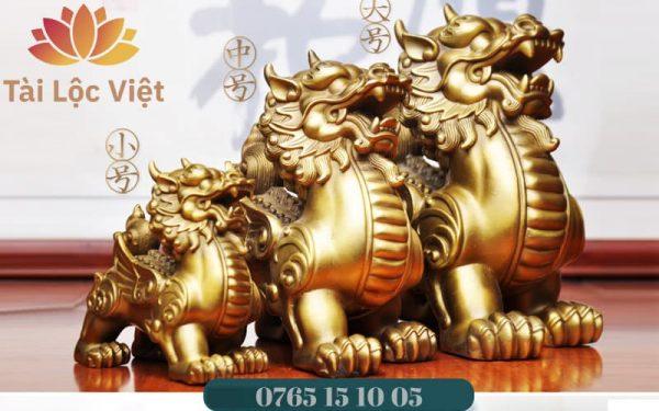 Các Kích Cỡ Tượng Tỳ Hưu Bằng Đồng Vàng - Chiêu Tài Lộc