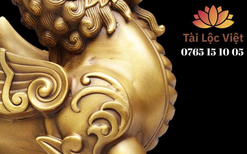 Ngực Tượng Tỳ Hưu Bằng Đồng Vàng - Chiêu Tài Lộc