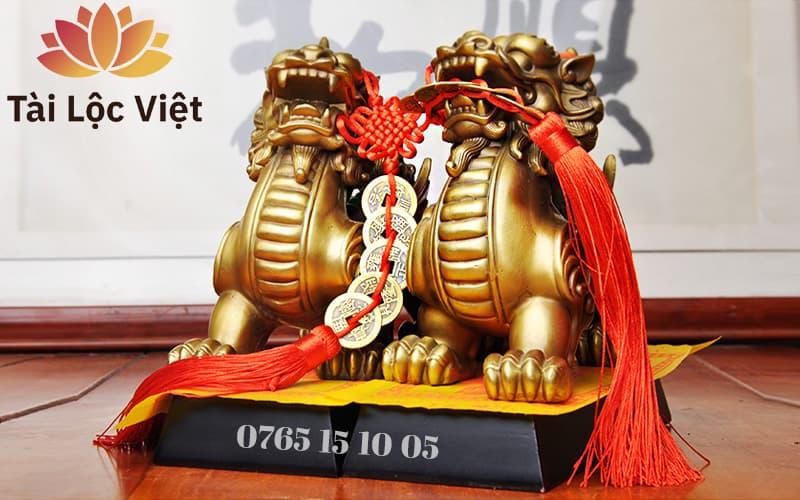 Tượng Tỳ Hưu Bằng Đồng Vàng - Chiêu Tài Lộc