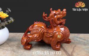 Tượng Tỳ Hưu Phong Thủy bằng Gỗ Đàn Hương Cao Cấp