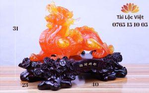Tượng Tỳ Hưu Phong Thủy bằng Nhựa Poly Giả Ngọc