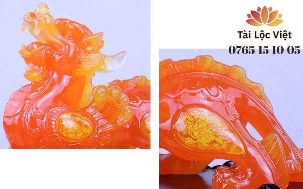 Đầu và Đuôi Tượng Tỳ Hưu Phong Thủy bằng Nhựa Poly Giả Ngọc