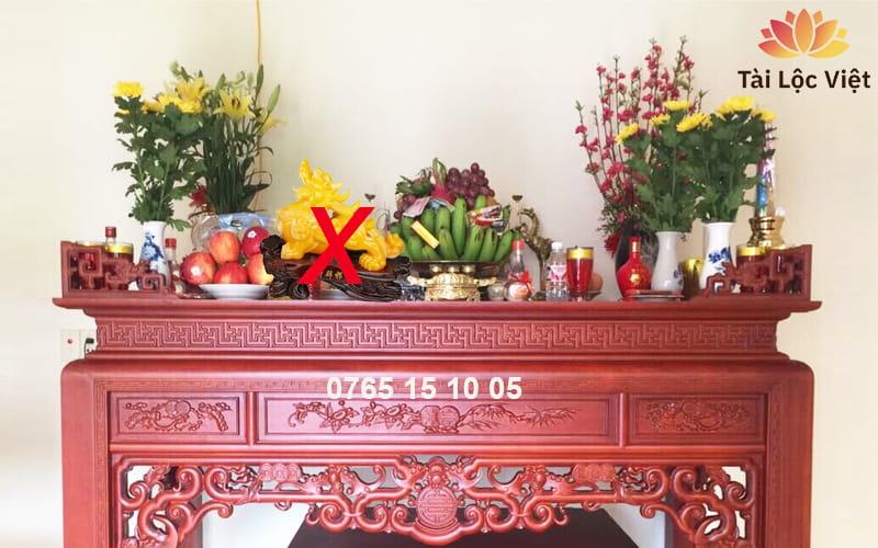Có nên đặt Tỳ Hưu trên bàn thờ Gia Tiên