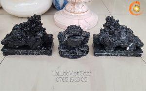 Cặp tượng Tỳ Hưu phong thủy đá marble đen