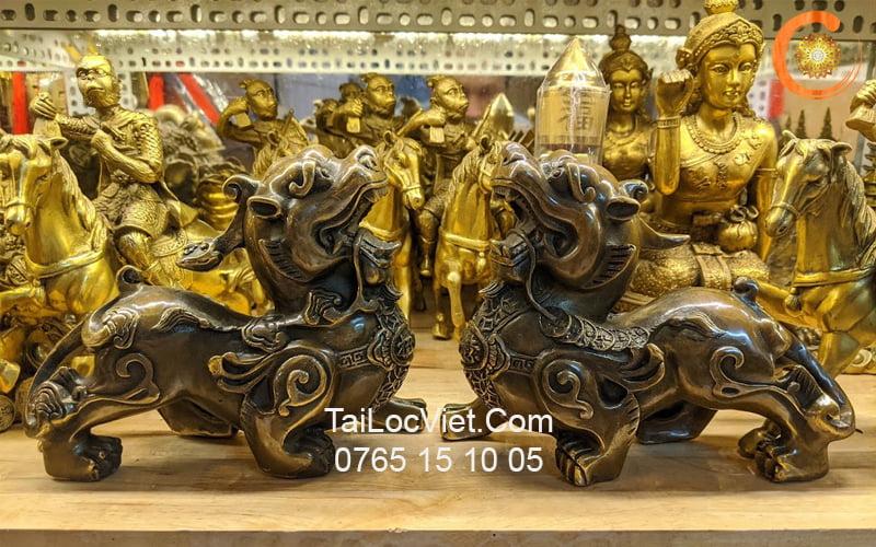 Cặp tượng Tỳ Hưu đồng giá rẻ, được nhiều người lựa chọn nhất vì dáng chuẩn phong thủy
