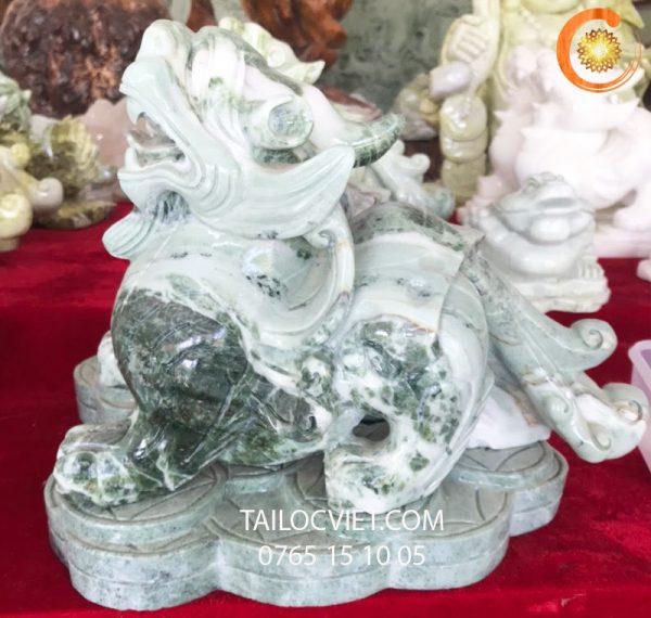 Cặp tượng Tỳ Hưu bằng đá serpentine