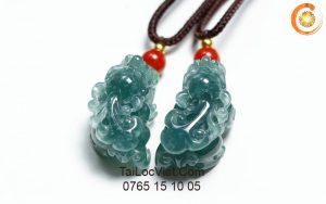 Tỳ Hưu lam ngọc phỉ thúy (đá cẩm thạch jade cao cấp)