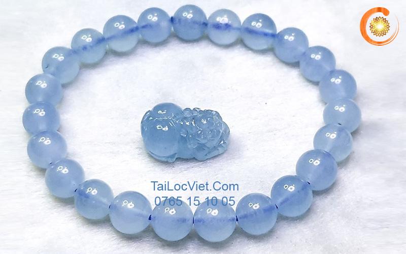 Vòng Tỳ Hưu đá aquamarine