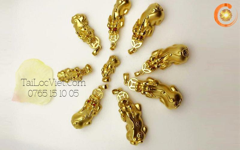 Các mẫu mặt dây chuyền Tỳ Hưu bằng vàng 24k