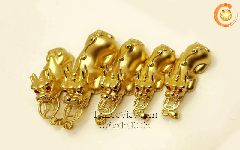 Mặt dây chuyền Tỳ Hưu bằng vàng 24k cao cấp
