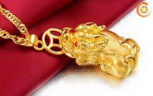 Mặt dây chuyền Tỳ Hưu bằng vàng 24k