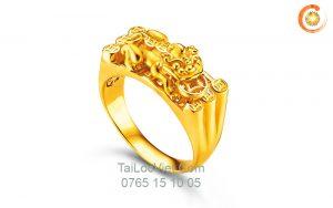 Nhẫn Tỳ Hưu nam bằng vàng 24k