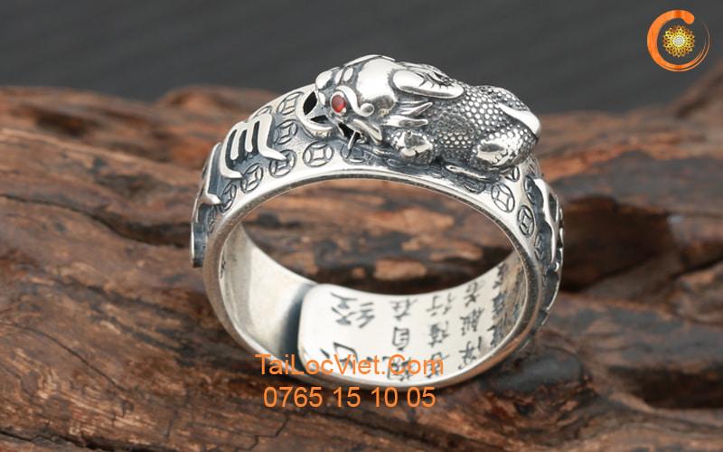 Nhẫn Tỳ Hưu nam bằng bạc 925
